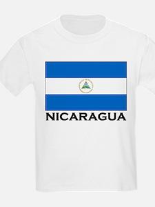 Nicaragua Flag Merchandise Kids T-Shirt