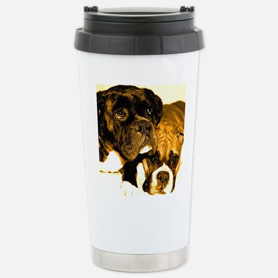 Boxer Dog Friends Stainless Steel Travel Mug