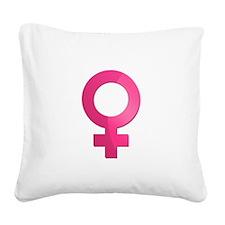 Female Symbol Square Canvas Pillow