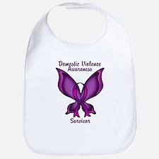 Domestic Violence Awareness Butterfly Ribbon Bib