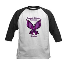 Domestic Violence Awareness Butterfly Ribbon Tee