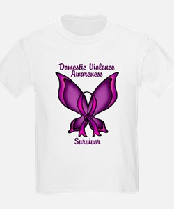 Domestic Violence Awareness Butterfly Ribbon T-Shirt
