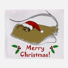 Christmas Stingray Throw Blanket