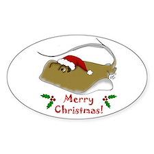 Christmas Stingray Decal