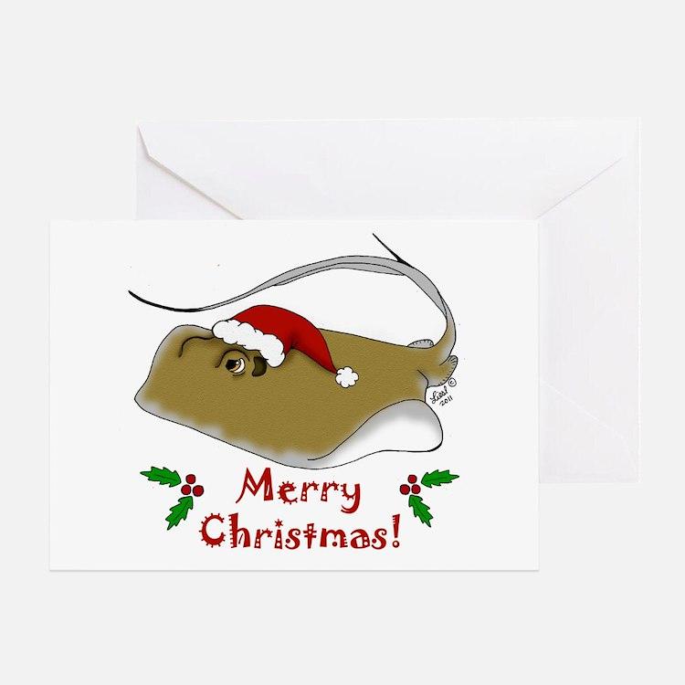 Christmas Stingray Greeting Card