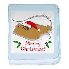 Christmas Stingray baby blanket