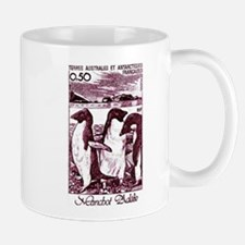 1980 French Antarctic Adélie Penguins Stamp Mug