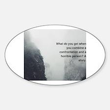 Cute Funny short jokes Sticker (Oval)