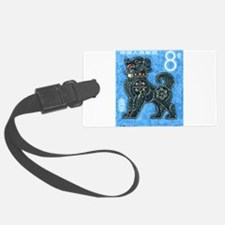 1982 China New Year Dog Postage Stamp Luggage Tag
