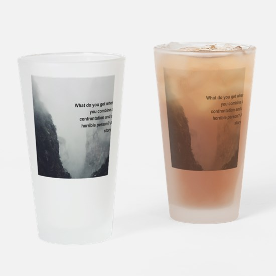 Cute Funny inspirational Drinking Glass