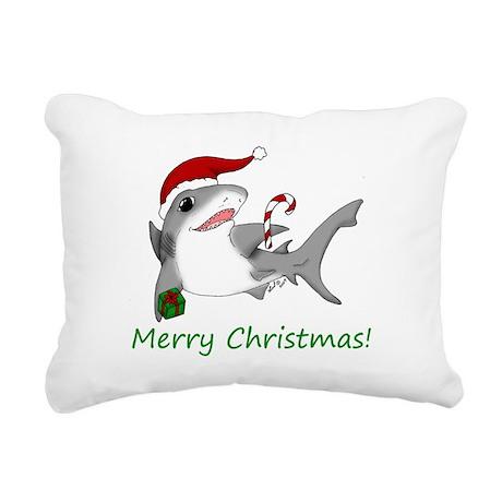 sharkaxmas.jpg Rectangular Canvas Pillow