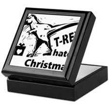 T-rex hates Christmas Keepsake Box