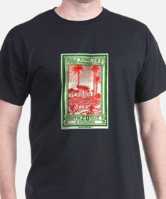 1929 French Guiana Royal Palms Postage Stamp T-Shirt