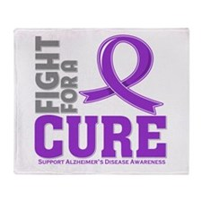 Alzheimers Disease Fight Throw Blanket