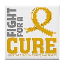 Appendix Cancer Fight Tile Coaster