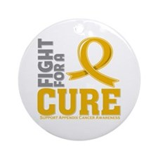 Appendix Cancer Fight Ornament (Round)