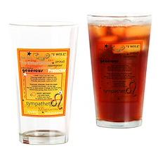 LEO BIRTHDAY Drinking Glass