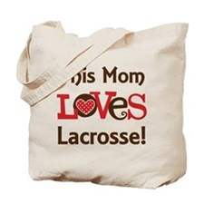 Mom Loves Lacrosse Tote Bag