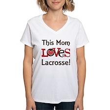 Mom Loves Lacrosse Shirt