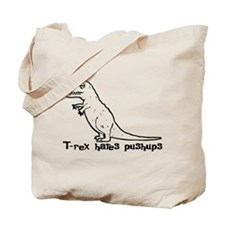 T-rex hates pushups Tote Bag