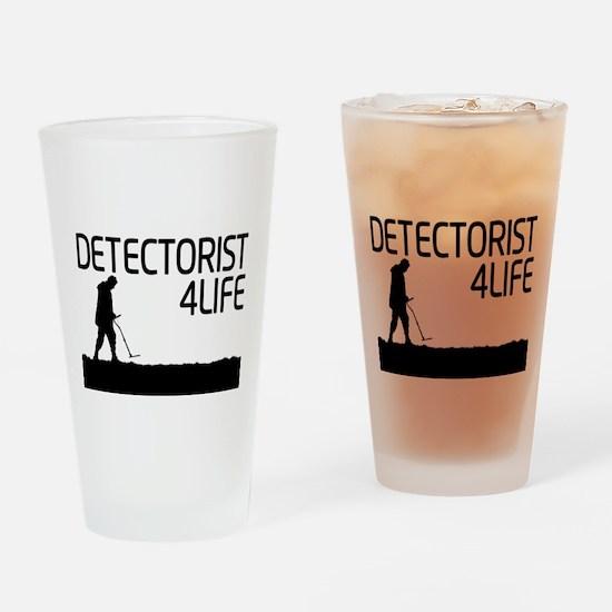 Detectorist 4 Life Drinking Glass