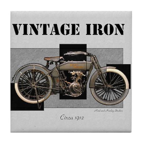 1912 Vintage Iron Tile Coaster