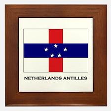 The Netherlands Antilles Flag Stuff Framed Tile