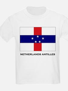 The Netherlands Antilles Flag Stuff Kids T-Shirt