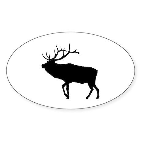 Elk Oval Sticker