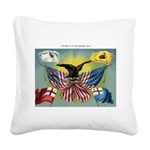 1885 History of US flag Square Canvas Pillow