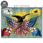 1885 History of US flag Puzzle