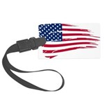 US flag Large Luggage Tag