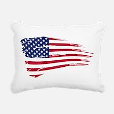 US flag Rectangular Canvas Pillow