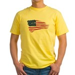 US flag Yellow T-Shirt