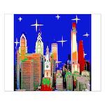 Philadelphia Starry Night Small Poster