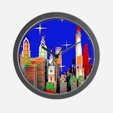 Philadelphia Starry Night Wall Clock
