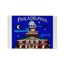 Philadelphia Starry Night Rectangle Magnet (10 pac