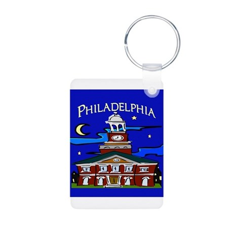 Philadelphia Starry Night Aluminum Photo Keychain