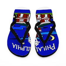 Philadelphia Starry Night Flip Flops
