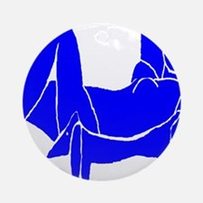 Blue Nude Dachshund Ornament (Round)