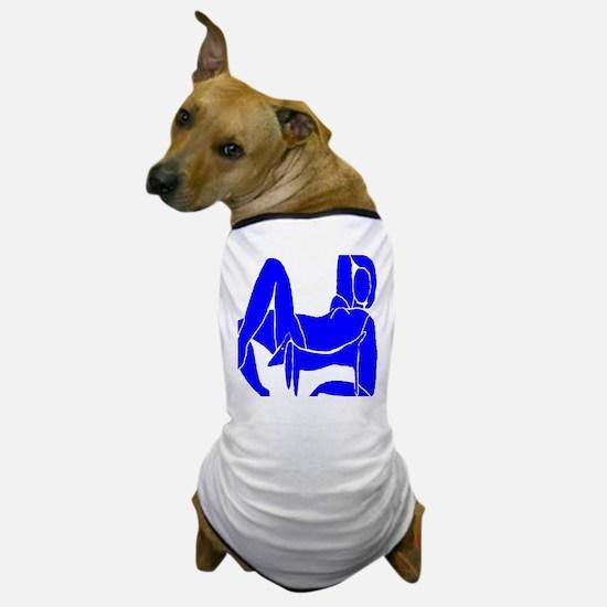 Blue Nude Dachshund Dog T-Shirt