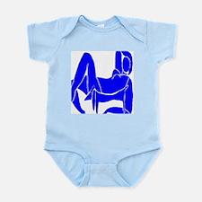Blue Nude Dachshund Infant Bodysuit