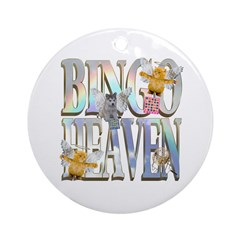 Bingo Heaven Text Animals Hus Ornament (Round)