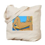 Reclined Nude at Beach Tote Bag