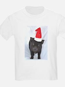 Micro pig with Santa hat T-Shirt