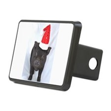 Micro pig with Santa hat Hitch Cover