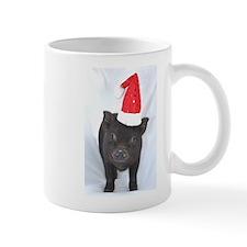 Micro pig with Santa hat Mug