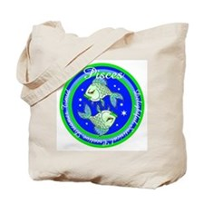 Pisces Zodiac Sign Tote Bag