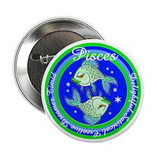 Pisces Zodiac Sign Button