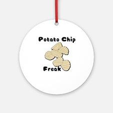 Potato Chip Freak Ornament (Round)